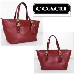 Coach Vintage Legacy Ruby Red Mini East West Tote